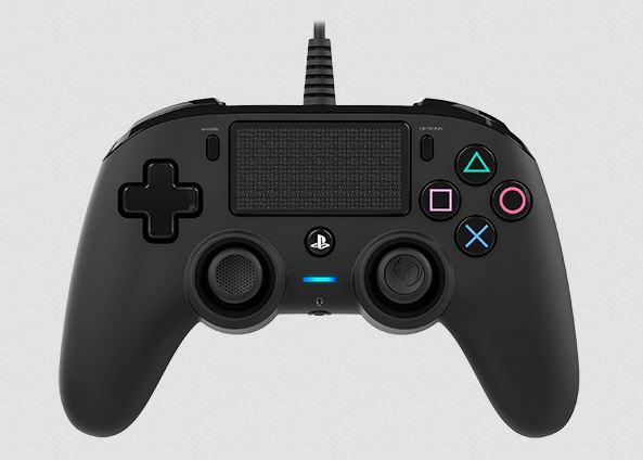 Manette filaire lumineuse compacte PS4
