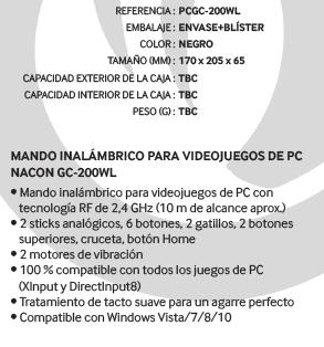 Nacon GC-200WL : Manette sans fil idéale pour jouer sur PC